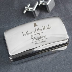 Decorative Wedding Father Of The Bride Cufflink Box For You Personalised Gifts P0103a51
