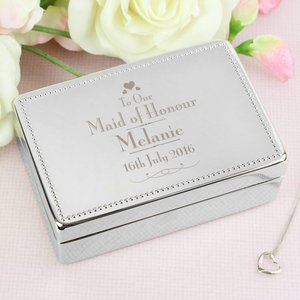 Decorative Wedding Maid Of Honour Jewellery Box For You Personalised Gifts P0102s40