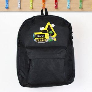 Digger Black Backpack For You Personalised Gifts P0710j07