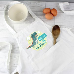 Dinosaur Children's Apron For You Personalised Gifts P0510g88