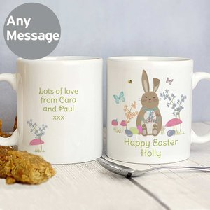 Easter Meadow Bunny Mug For You Personalised Gifts P0805f26