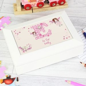 Fairy Letter White Jewellery Box For You Personalised Gifts P1011a06