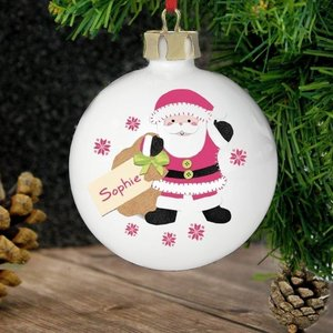 Felt Stitch Santa Bauble For You Personalised Gifts P0305f64