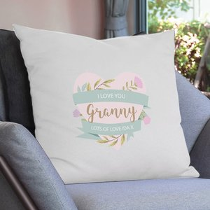 Floral Mother's Day Cream Cushion Cover For You Personalised Gifts P0510g90