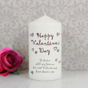 Flowers And Butterflies Happy Valentines Day Candle For You Personalised Gifts P040956