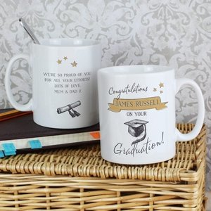 Gold Star Graduation Mug For You Personalised Gifts P0805h06