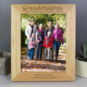 Grandchildren Are A Blessing' 8x10 Wooden Photo Frame For You Personalised Gifts P0111b58