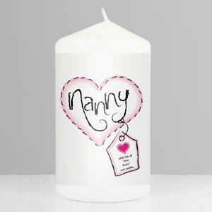 Heart Stitch Nanny Candle For You Personalised Gifts P0409a39