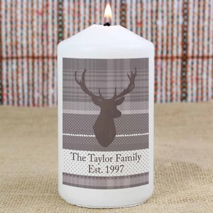 Highland Stag Candle For You Personalised Gifts P0409d20