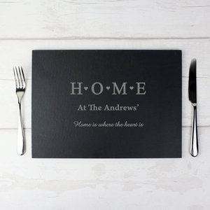 Home Slate Rectangle Placemat For You Personalised Gifts P010556