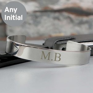 Initial Stainless Steel Bangle For You Personalised Gifts P0103b16