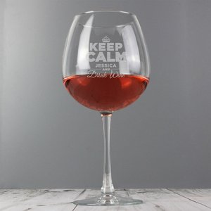Keep Calm Bottle Of Wine Glass For You Personalised Gifts P0107d71