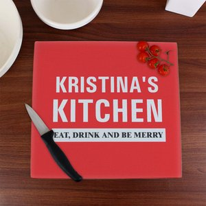 Kitchen Glass Chopping Board For You Personalised Gifts P080737