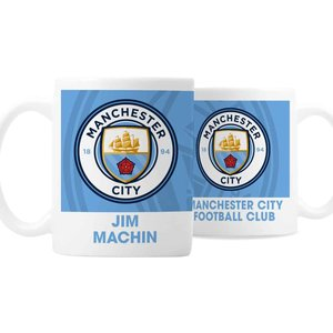 Manchester City Fc Bold Crest Mug For You Personalised Gifts P0805j59