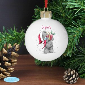 Me To You Christmas Bauble For You Personalised Gifts P0305f77