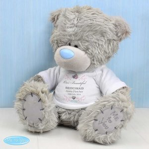 Me To You Flower Girl Teddy With T-shirt For You Personalised Gifts P0210b98