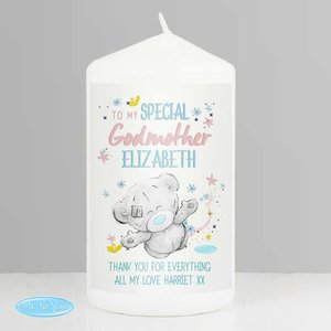 Me To You Godmother Pillar Candle For You Personalised Gifts P0409d58