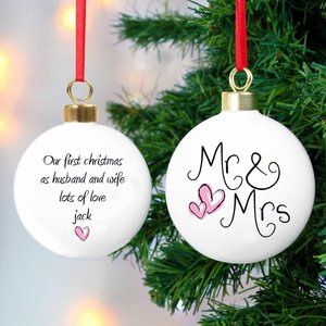 Mr & Mrs Bauble For You Personalised Gifts P0305e07
