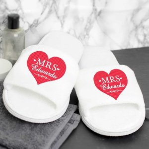 Mrs Velour Slippers For You Personalised Gifts P0710g09