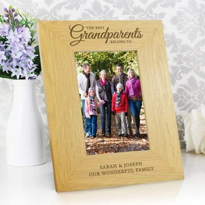Oak Finish 'the Best Grandparents' 4x6 Photo Frame For You Personalised Gifts P0111b62