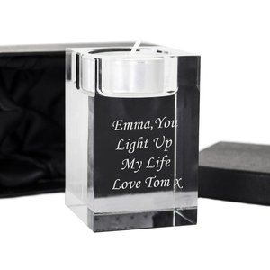 Optic Tea Light Candle Holder For You Personalised Gifts P010865