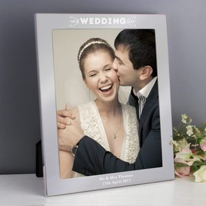 Our Wedding Day Silver 8x10 Photo Frame For You Personalised Gifts P0104j18