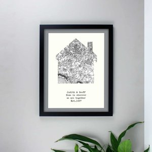 Personalised 1805 - 1874 Old Series Map Home Black Framed Print For You Personalised Gifts P0512u68