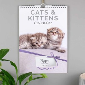 Personalised A4 Cats & Kittens Calendar For You Personalised Gifts P0512ab27