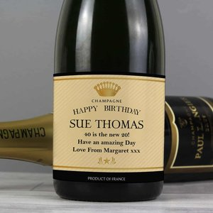 Personalised Crown Champagne For You Personalised Gifts P0512w50