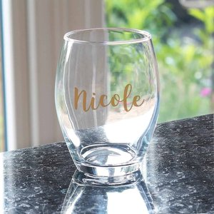 Personalised Gold Name Stemless Wine Glass For You Personalised Gifts P0307h46