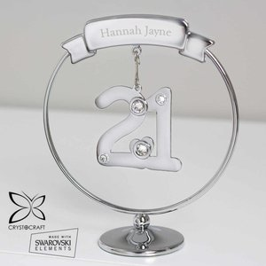 Personalised Name Only Crystocraft 21st Celebration Ornament For You Personalised Gifts P0104l75