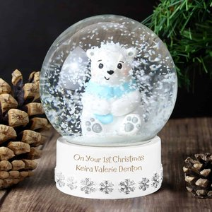 Personalised Polar Bear Snow Globe For You Personalised Gifts P011304