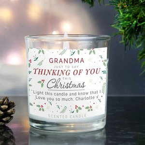 Personalised Thinking Of You Christmas Scented Jar Candle For You Personalised Gifts P0512ac07