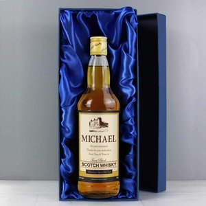 Personalised Traditional Castle Whisky With Gift Box For You Personalised Gifts P0512l16box