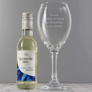Personalised White Wine & Any Message Wine Glass Set For You Personalised Gifts P0107e74