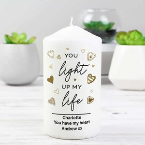 Personalised You Light Up My Life Pillar Candle For You Personalised Gifts P0409d75