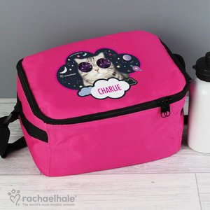 Rachael Hale Space Cat Pink Lunch Bag For You Personalised Gifts P0710i24