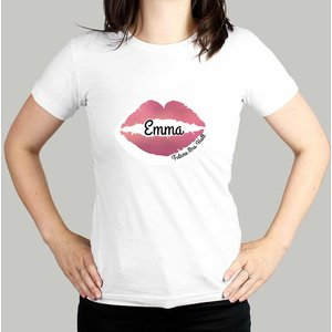 Rose Gold Lips Hen Party T-shirt - White Large For You Personalised Gifts P0510h18