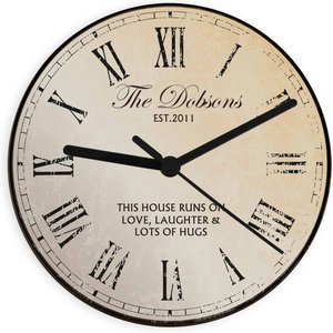 Rustic Message Glass Clock For You Personalised Gifts P080708