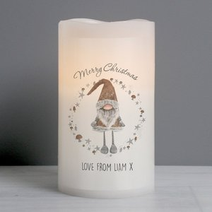Scandinavian Christmas Gnome Led Candle For You Personalised Gifts P0409d57