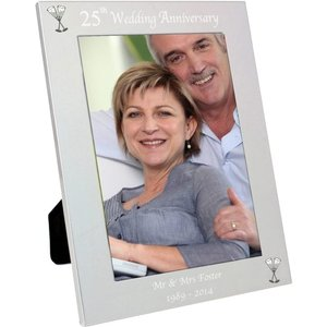 Silver 5x7 25th Wedding Anniversary Photo Frame For You Personalised Gifts P100237