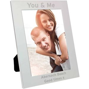 Silver 5x7 Bold Style Photo Frame For You Personalised Gifts P0102s76