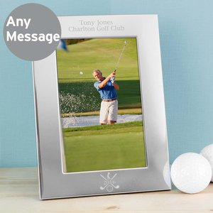 Silver Golf 6x4 Photo Frame For You Personalised Gifts P0104i18