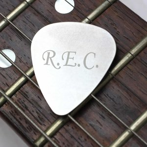 Silver Plectrum For You Personalised Gifts P0102e54