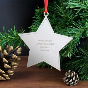 Star Tree Decoration For You Personalised Gifts P0102e78