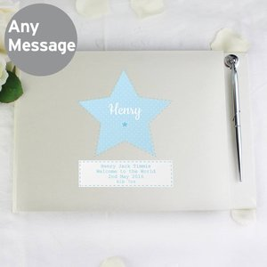 Stitch & Dot Boys Guest Book & Pen For You Personalised Gifts P0712a12