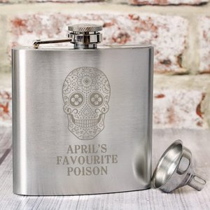 Sugar Skull Hip Flask For You Personalised Gifts P0102u84