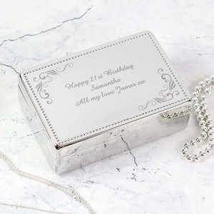 Swirl Rectangular Jewellery Box For You Personalised Gifts P0102r59