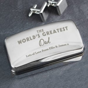 The World's Greatest' Cufflink Box For You Personalised Gifts P0103b52