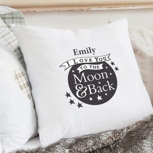 To The Moon And Back...cream Cushion Cover For You Personalised Gifts P0510f93